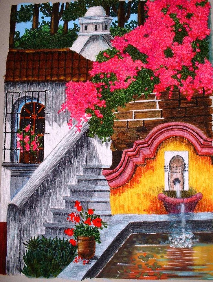 Fuente Antigua Guatemala | GL - Embroidery - MY WORK ...
