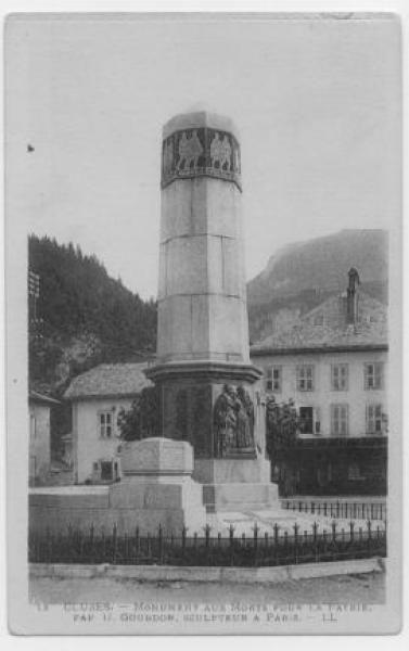 Monument aux morts – Cluses, Haute-Savoie