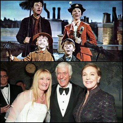 (1) Dick Van Dyke, Julie Andrews, Karen Dotrice & Matthew Garber Mary Poppins (1964)  (2) Karen Dotrice, Dick Van Dyke & Julie Andrews pose at the after-party for Disney's 'Mary Poppins' 40th Anniversary Edition DVD Launch party and screening 2004 (absent is Matthew Garber who unknowingly contracted hepatitis while in India in 1976 & several months later the disease had affected his pancreas which resulted in his death in 1977 aged just 21) Garber was posthumously named a Disney Legend in…