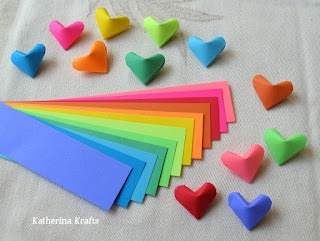 Folding Origami Hearts!