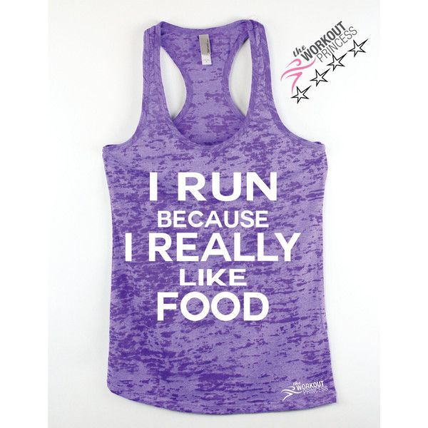 I Run Because I Really Like Food Funny Workout tank Plus Size Workout... ($20) ❤ liked on Polyvore featuring activewear, activewear tops, plus size activewear, womens plus size activewear and plus size sportswear