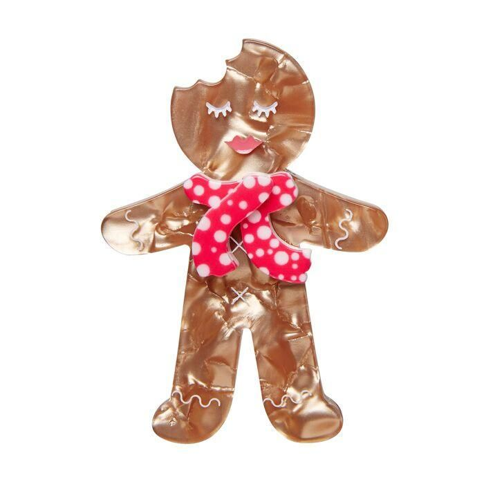 Ginger the Christmas Cookie Brooch