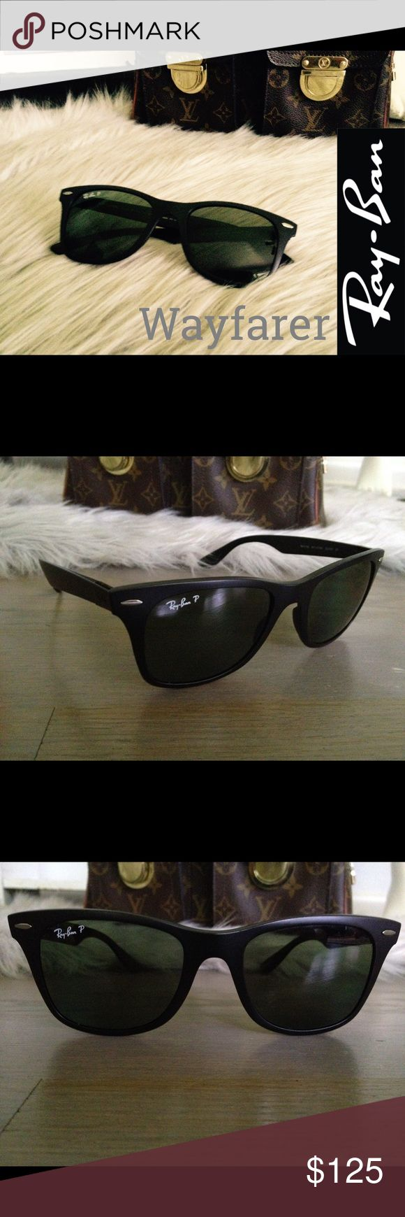 Authentic Ray-ban Wayfarer Sunnies Black Ray-ban Wayfarer sunnies. Black. Excellent used condition. Sunglasses only. Does not include case or cleaning cloth. *NO TRADES* Ray-Ban Accessories Sunglasses