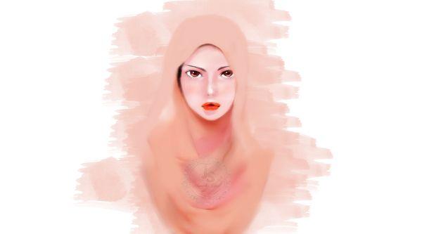 Hijab Illustration ( Peach Girl ) on Behance