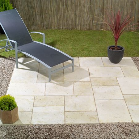 Patio Ideas On A Budget | Random Style Laying Pattern in a Patio Kit