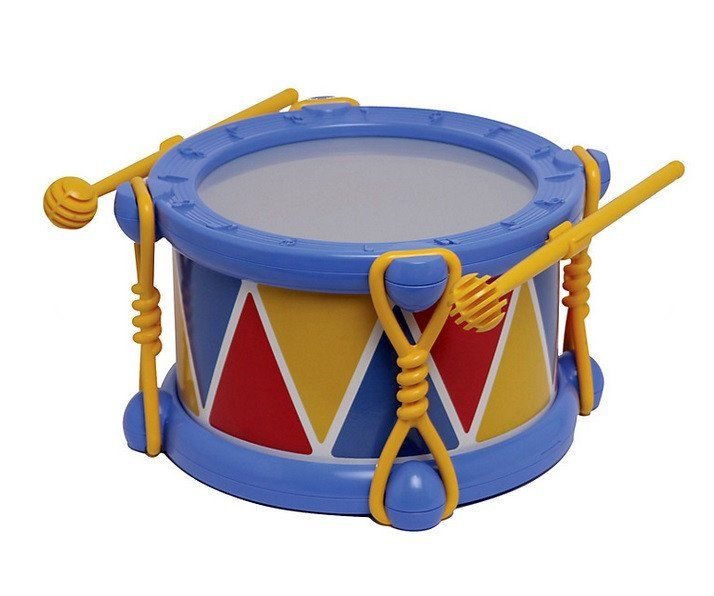 Halilit Baby Drum - www.totswarehouse.com    Let your child explore and create music with this fun toy drum from Halilit.  The drum skin is robust and provides excellent noisy fun for you teeny one.  Suitable from 18 months.  Comes with 2 child safe drum sticks  #baby #toy #drum