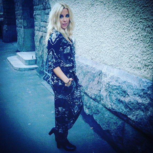 Singer Krista Siegfrids wearing Odd Molly jumpsuit  In love with this jumpsuit from @oddmolly  #jumpsuit #oddmolly #fashion #love #clothes
