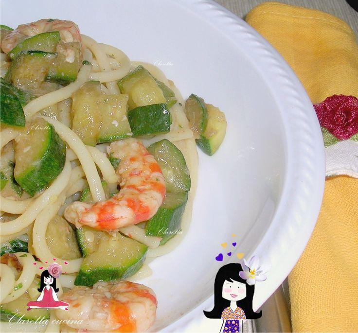 Spaghetti mazzancolle e zucchine, Ricetta gustosa, Ricetta semplice