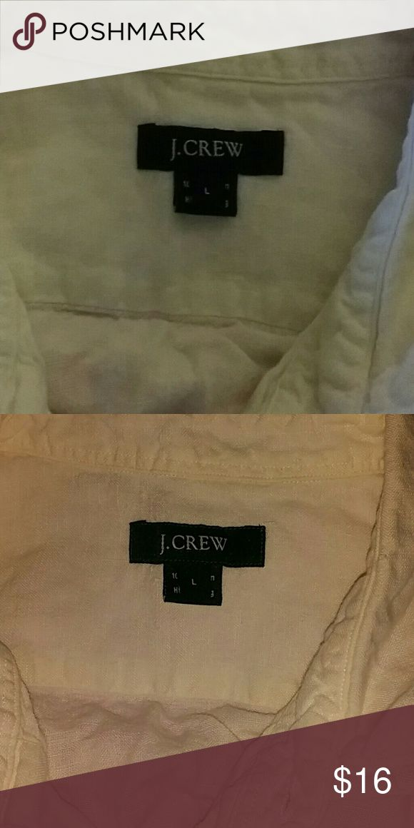 SZ L 100% LINEN J CREW PLAIN WHITE SHIRT Long sleeve, mens, total button front, plain white dress shirt sz L by J CREW. Thanks for visiting my closet! Come again soon! Make me an offer! I love offers! I need offers please! J. Crew Tops Button Down Shirts