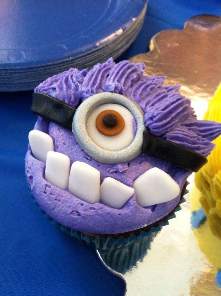 Evil minion cupcake