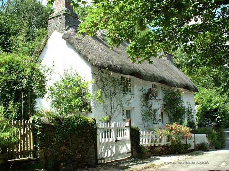 Cornish thatched cottage.