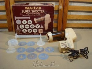 Vintage Wear Ever Super Shooter Electric Cookie Press | eBay - someone said this has been the best brand for them