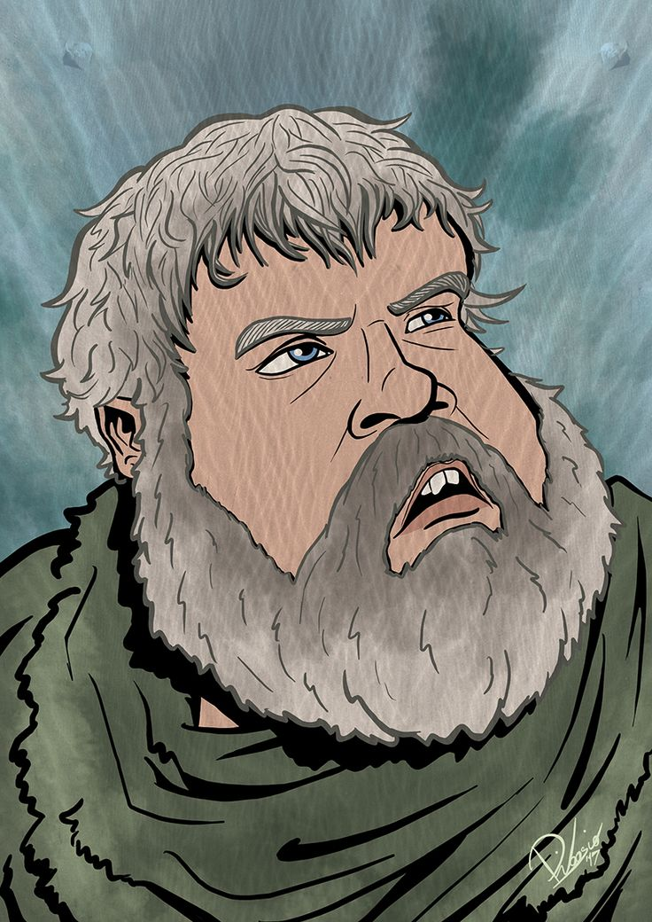 Kristian Nairn as Hodor in #gameofthrones - caricature by Ribosio