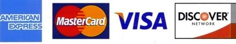 We accept these major credit cards as well as cash or cheques. We are here to serve you.