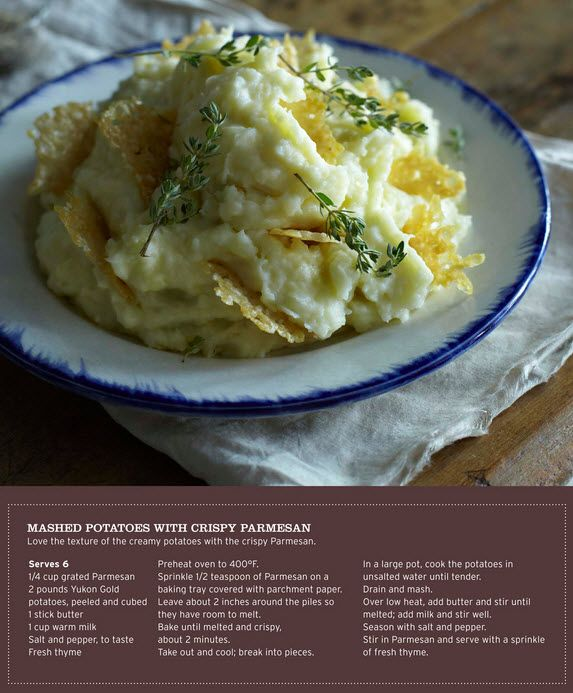 Sweet Paul's Mashed Potatoes with Parmesan Crisps