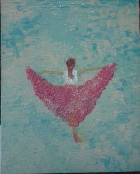 """Lone dancer""- Acrylic on canvas"