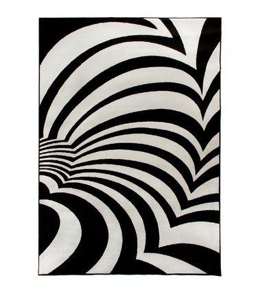 Savanni-matto, valkoinen-musta Vallila