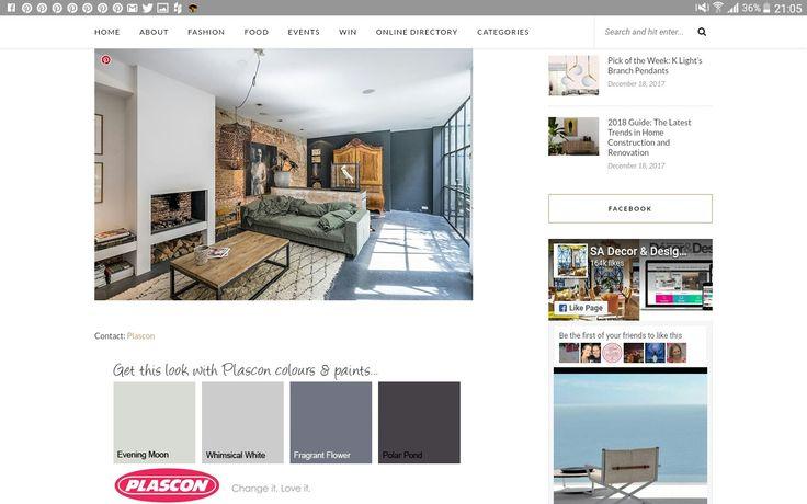 Awesome #Plascon colour scheme.
