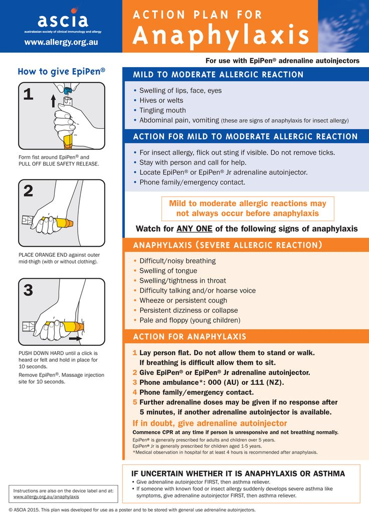 ASCIA Action Plan for general use - Allergy & Anaphylaxis ...