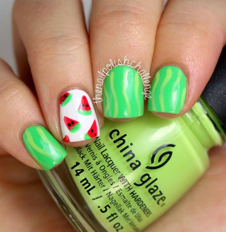 Easy Watermelon Nail Art and Tutorial! - The Nail Polish Challenge ...