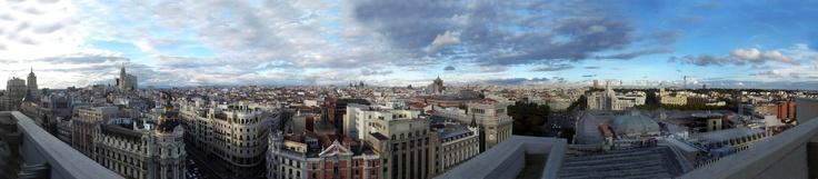 Panorámica de Madrid desde la terraza del Círculo de Bellas Artes