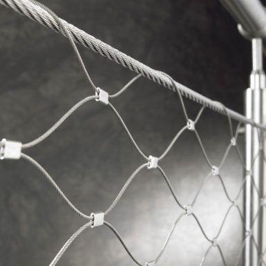 Foto malla metálica de cables de acero inoxidable X-TEND