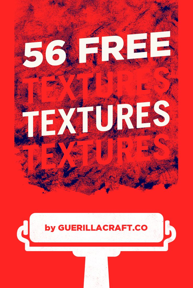 Download 56 free textures now. High-quality textures made by Guerillacraft are now free for commercial and personal use. Guerillacraft produces design resources for graphic designers and illustrators. If you are looking for something to distress your design, take these collection of free design presets. Download textures for free + get another great design resources without spending any cent! Download now for FREE!
