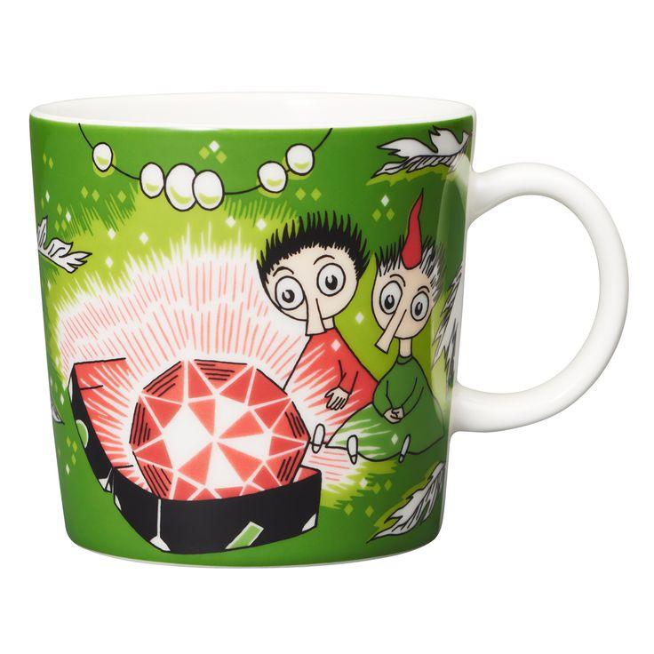 Moomin mug, Thingumy and Bob, green
