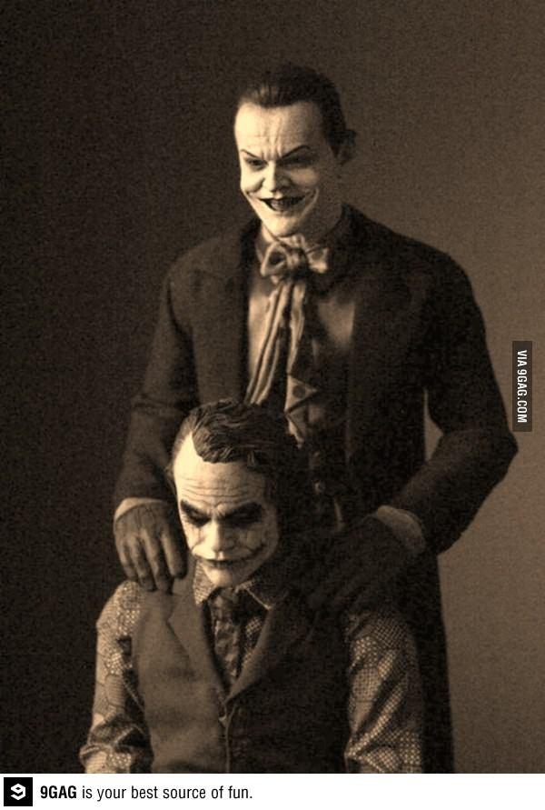 J. Nicholson and H. Ledger as Joker.