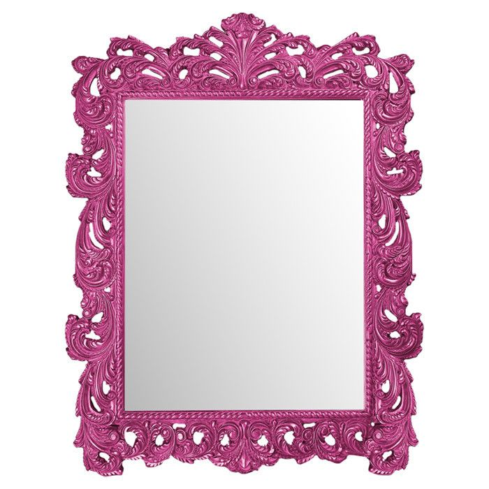 pink wall mirrors bold mirror mirrors mirrored mirrors lights baroque ...