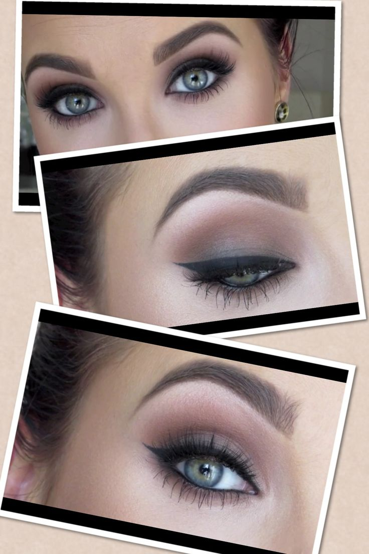 Jaclyn Hill/Daytime Smokey Eye. Products used: Soft Brown, Saddle, Ground Brown, Carbon (to buff out eyeliner).
