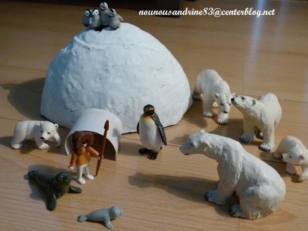 activité manuelle : animaux polaire , banquise