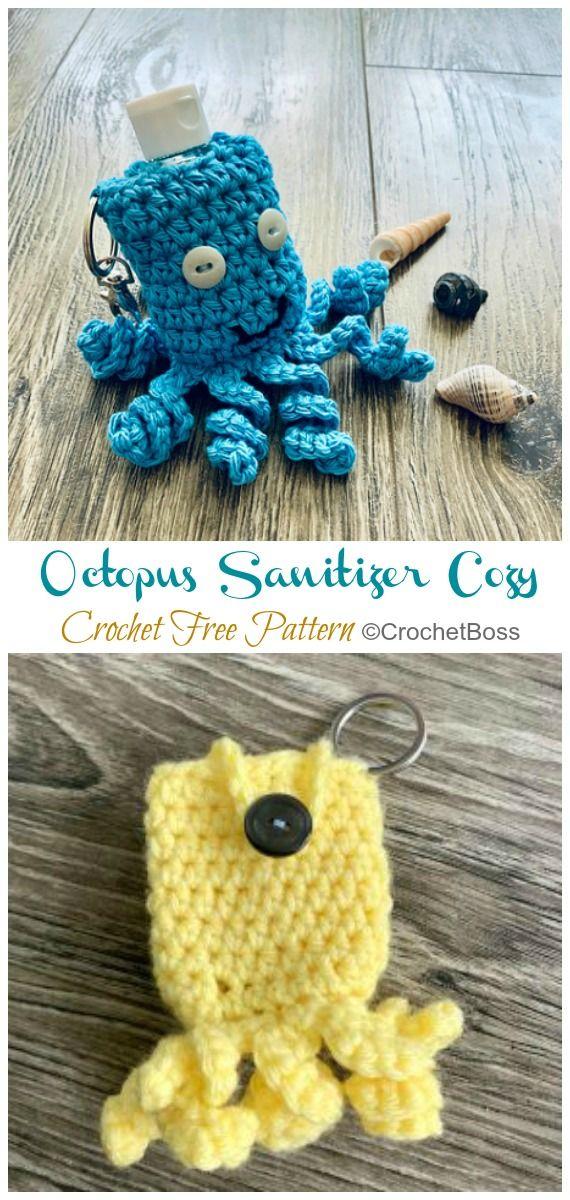 Hand Sanitizer Cozy Crochet Free Patterns Free Crochet Crochet