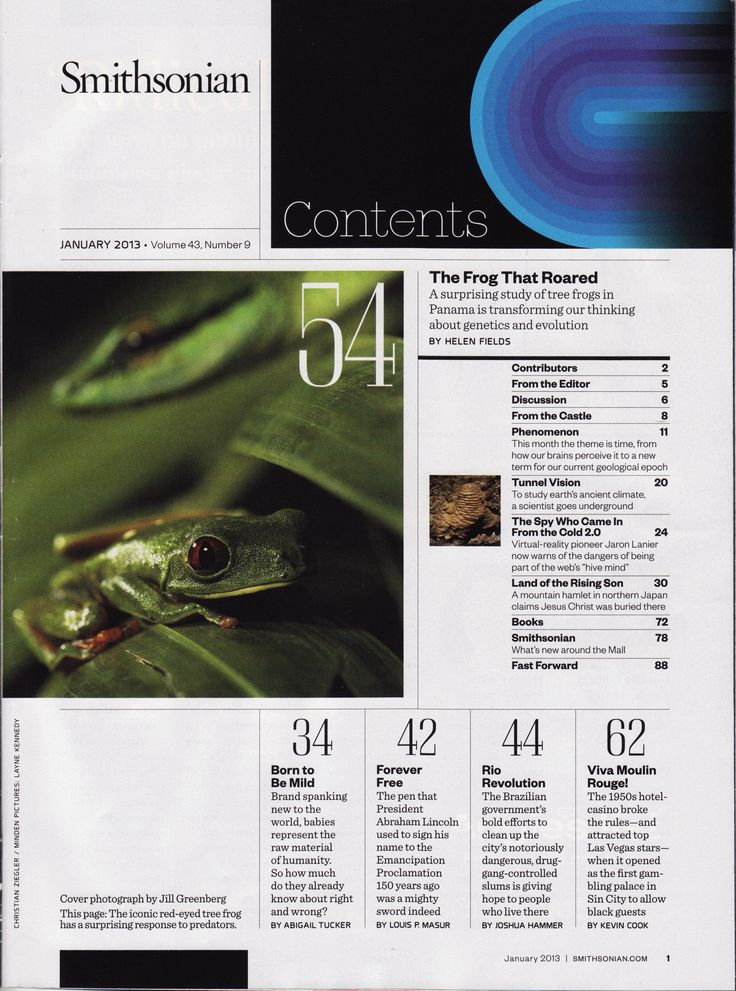 magazine table of contents images | Smithsonian Magazine Table of Contents (1989 & 2013)