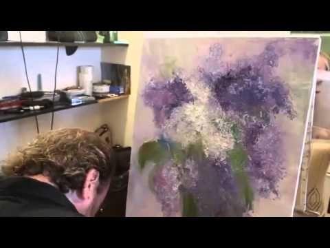 И.Сахаров, НОВЫЙ видеоурок, пишем букет,художник Сахаров - YouTube