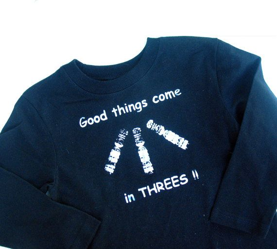 Black Down Syndrome Awareness Tee Shirt  Good things come in Threes!!  Unisex short sleeve tshirt  Kids tshirt    I created this tshirt design to