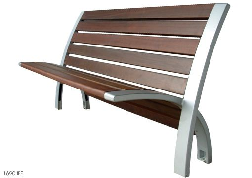 Modern Metal And Wooden Benches For Outdoor Park Furniture Modern ...