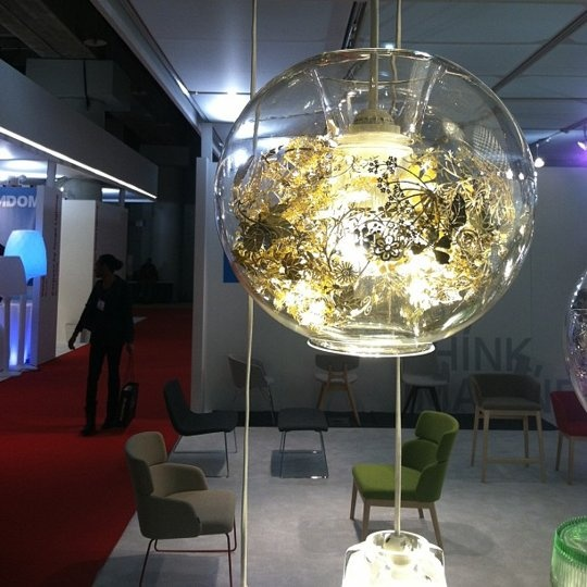 Globe Apartments: Glass Globe + Metallic Floral Lighting By Artecnica