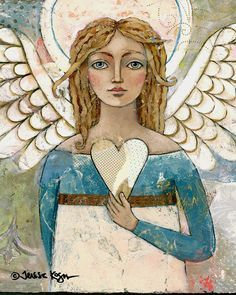 Home Decor Print | Angel | 8x10 print | Teresa Kogut Art | Inspirational