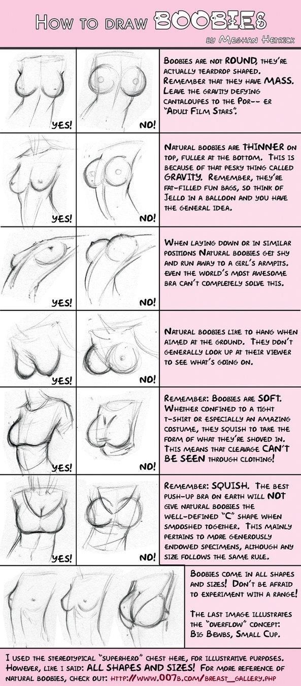 How To Draw BOOBIES!!