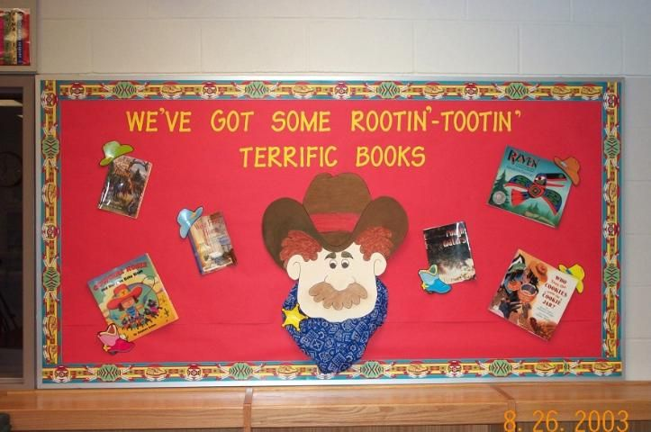 Cowboy bulletin board(for reading)