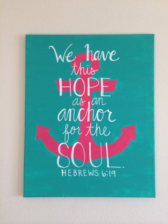Anchor Quote Canvas Painting
