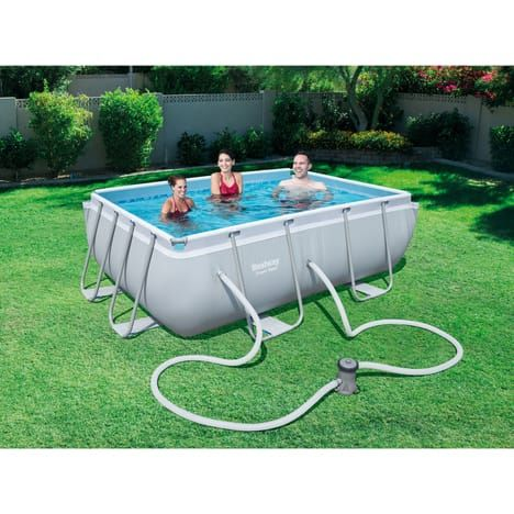 BESTWAY Kit piscine tubulaire rectangulaire
