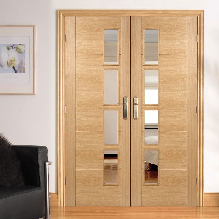 Vancouver Oak 4L Door Pair with Clear Glazed Offset and Pre-finished & 234 best LPD Internal Doors images on Pinterest | Door sets Indoor ...