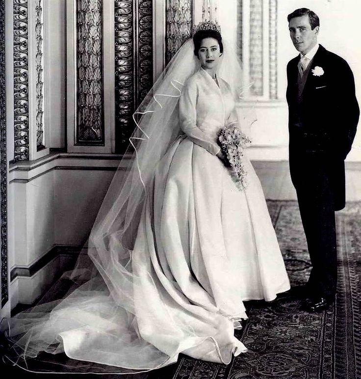 Princess Margaret, Countess of Snowdon, marries Antony Armstrong-Jones, 1960.