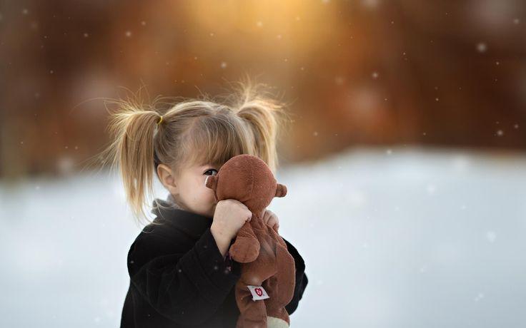 1920x1200 игрушка, боке, девочка, хвостики