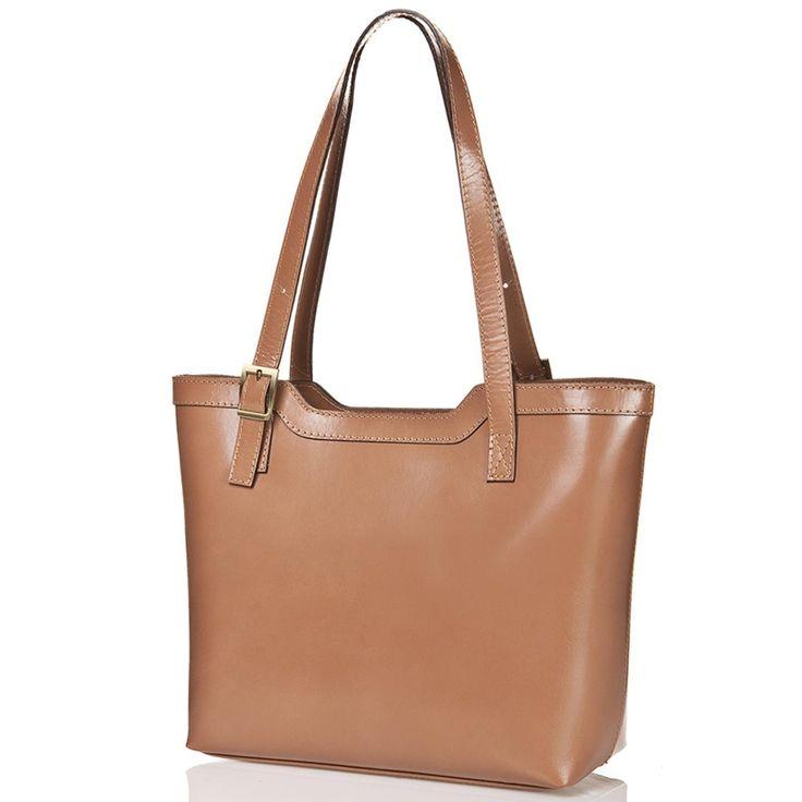 Jednoduchá kabelka přes rameno, s rozděleným vnitřním prostorem.