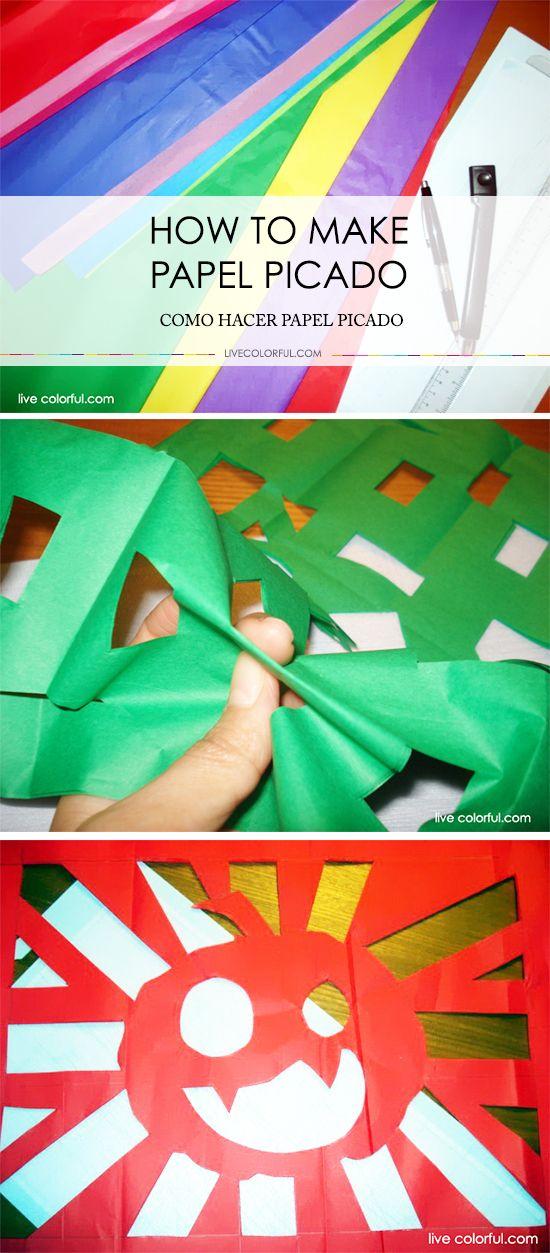 Como hacer papel picado para decorar una fiesta inspirada en el Día de los Muertos o decorar tu casa para Halloween | LiveColorful.com/es