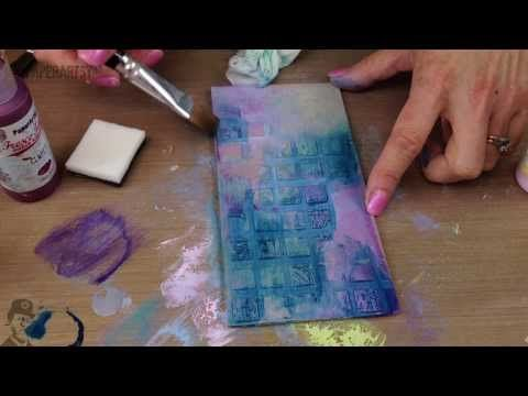 Grunge Paste 106 Stencil Stamping from PaperArtsyHQ - YouTube