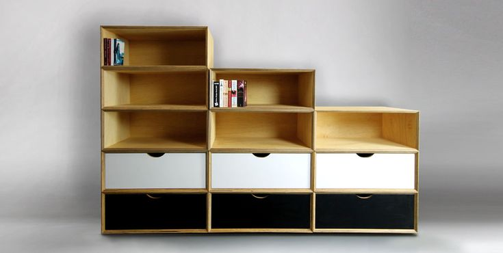 Storage Modules with fold down and soft close drawers - you can have any colour you like! So get creative! :)